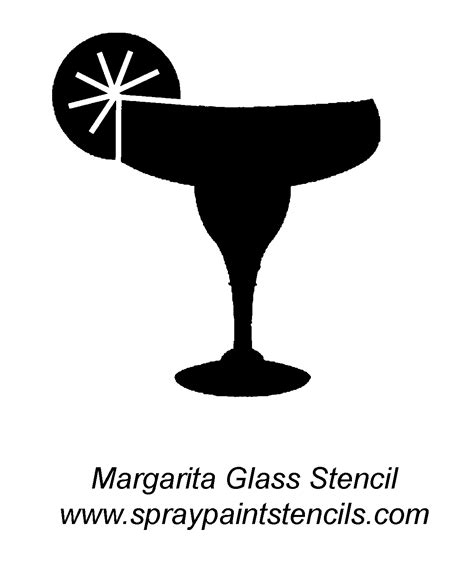 margarita clipart black and white stencil requests for september 2007