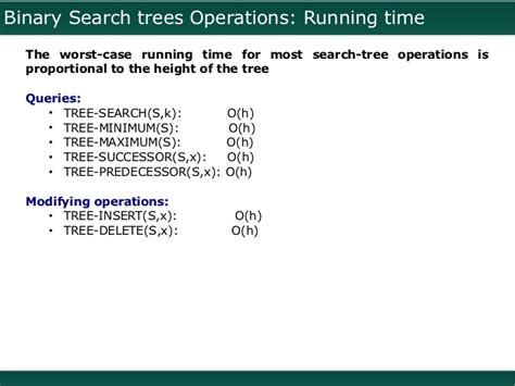 Worst Running Time Of Binary Search Black Trees