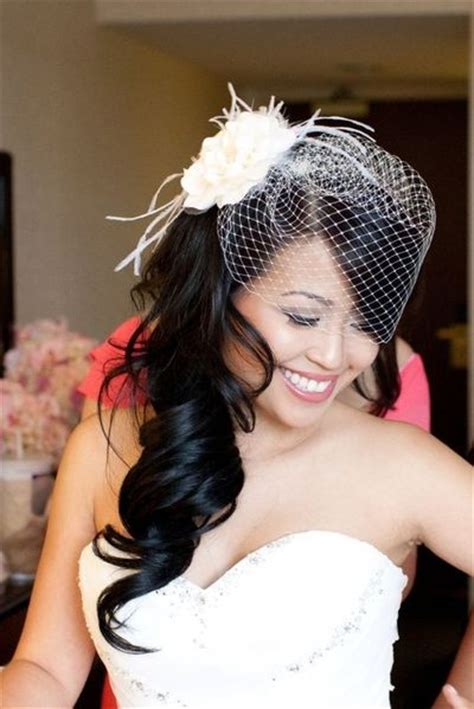 Wedding Hair Half Up With Birdcage Veil by Hair Half Up With Birdcage Veil Wedding Ideas Juxtapost
