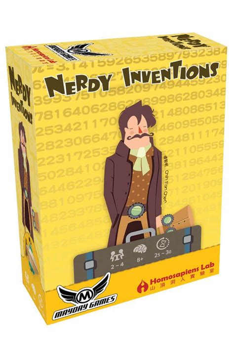 Nerdy Invention By Mayday Boardgame nerdy inventions 2 4 player steunk card mayday