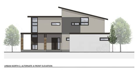 plan and elevation of a house ground breaking urban north kansas city s new modern subdivision
