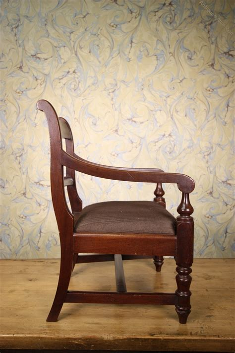 Childs Dining Chair Antique Mahogany Childs Carved Dining Chair