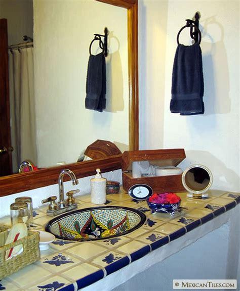 Talavera Bathroom by Mexicantiles Bathroom Countertop With Fly Talavera