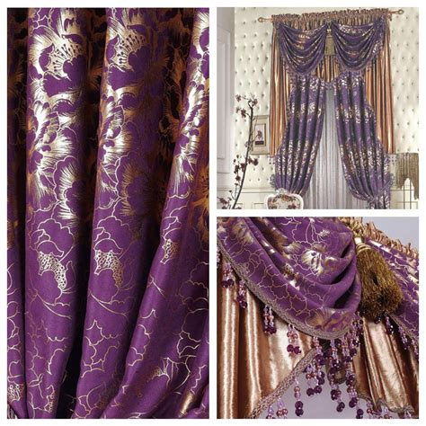 purple and gold curtains flower quality the blind purple luxury classical classic