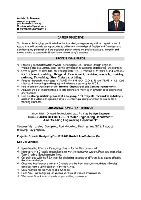 Sle Resume Objectives For Mechanical Engineer Career Objective Mechanical Engineer 28 Images Doc 672828 Sle Resume Objectives For