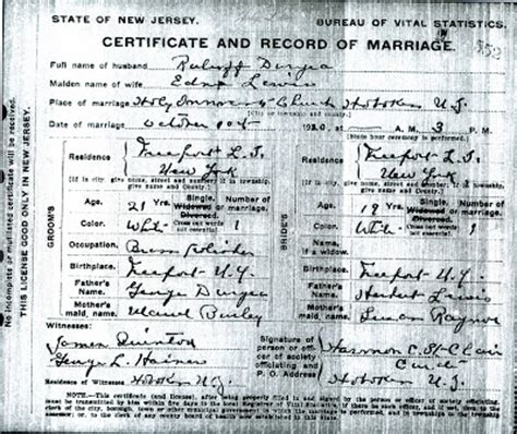 Newark Nj Marriage Records Family History Research By Jody Duryea New Jersey Marriages