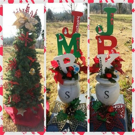grave side christmas tree grave side decor my own projects decor cemetery and