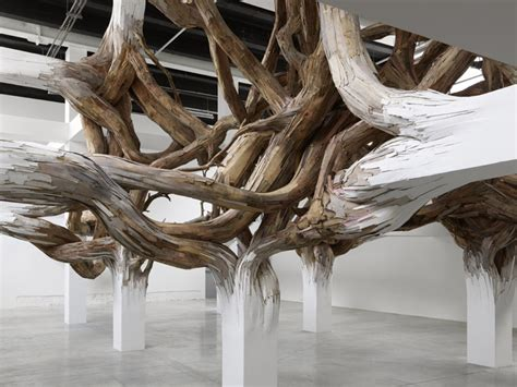 what does wood symbolize henrique oliveira s parasitic structures made from