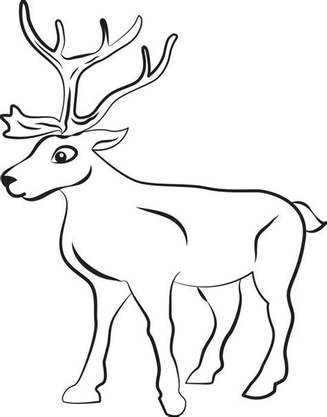 coloring book pages reindeer free printable reindeer coloring page for