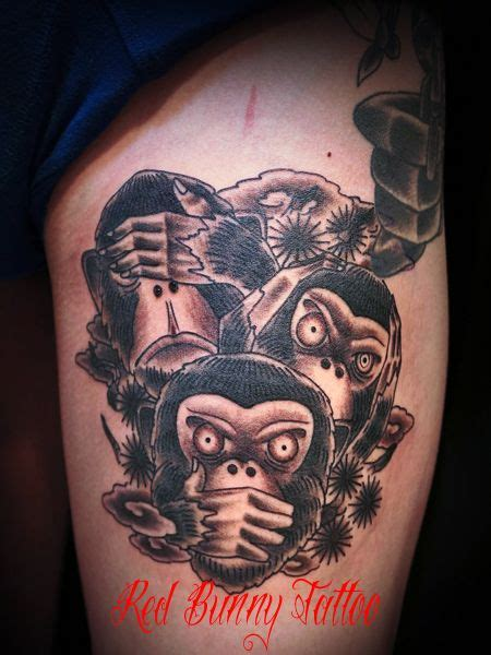 three monkeys tattoo design 51 best 3 wise monkeys see no evil hear no evil speak