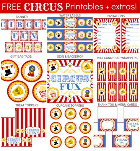 printable carnival party decorations click here to download free circus themes party printables