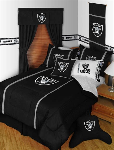 raiders bedding oakland raiders mvp comforter