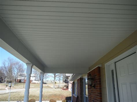 Soffit For Porch Ceiling new custom porch ceiling built out of vinyl soffit autumn hardie siding remodel project