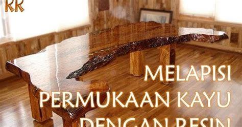 Meja Epoxy cara melapisi permukaan kayu dengan resin kerajinan kreatif