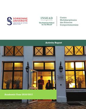 Insead Mba Employment Report 2016 by Insead Sorbonne Universit 233 Behavioural Lab Insead