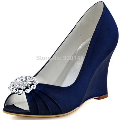 Blue Wedge Heels Wedding by Popular Navy Blue Wedge Heels Buy Cheap Navy Blue Wedge