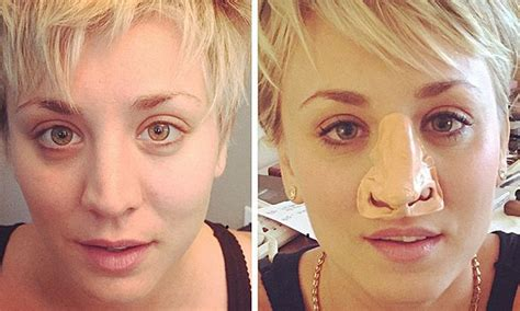 Sakira Mol kaley cuoco jokes about nose rumors with prosthetic in