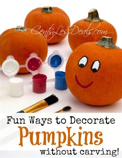 ways to decorate a pumpkin without carving centsless deals