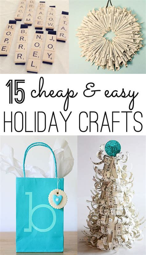 easy inexpensive crafts for christmas