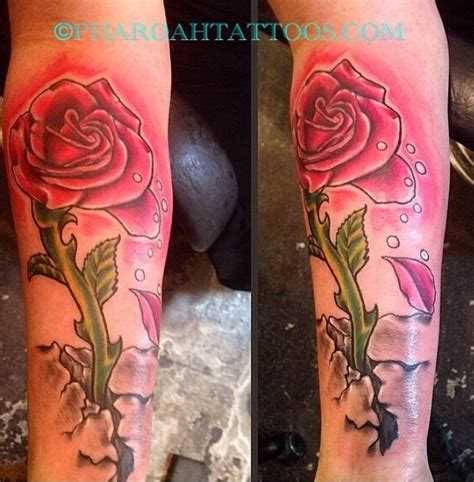 pharoah tattoos long stem rose tattoo