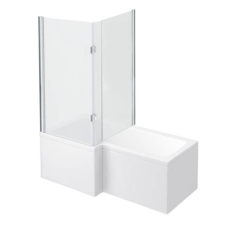 1500mm l shaped shower bath 1500mm l shaped shower bath with fully enclosed screen