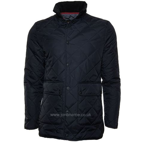 Navy Blue Quilted Vest by Lambretta Quilted Jacket Style In Navy Blue