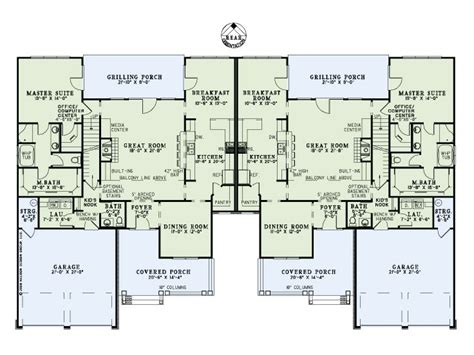 large townhouse floor plans townhouse plans two story townhouse plan 025m 0080 at