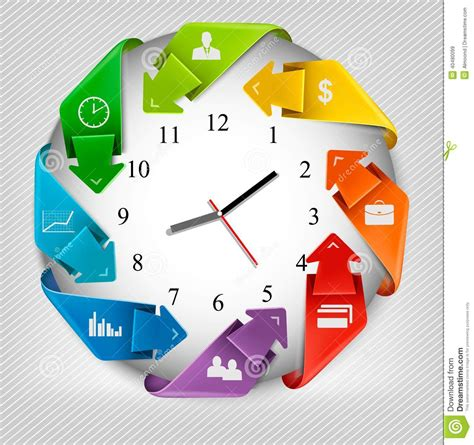 How To Make An Origami Clock - infographics origami clock with icons stock vector