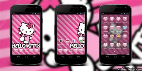 dodol launcher themes hello kitty kartrider android theme for dodol launcher androidlooks com