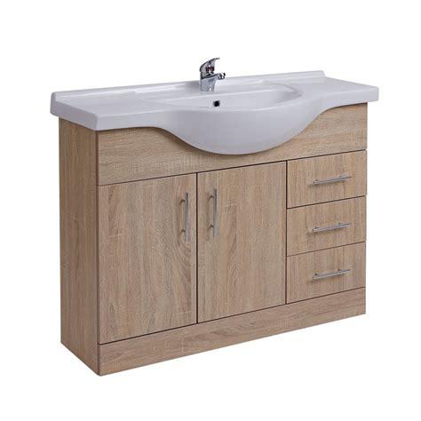 bagno rovere mobile bagno colore rovere con lavabo integrato con 2 ante