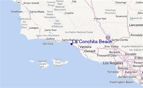 louisiana map beaches la conchita surf forecast and surf reports cal