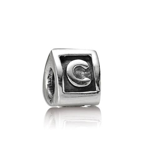pandora alphabet pandora letter c alphabet charm pandora from gift and wrap uk