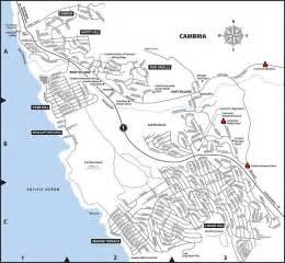 cambria california map cambria real estate connection