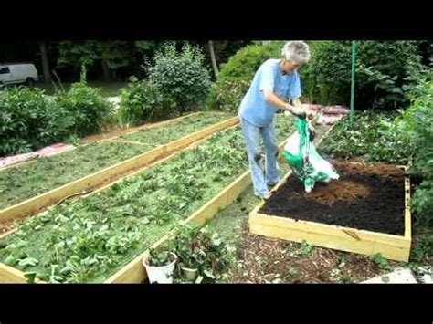 strawberry garden beds raised strawberry beds finished wisconsin garden video blog 174 avi youtube