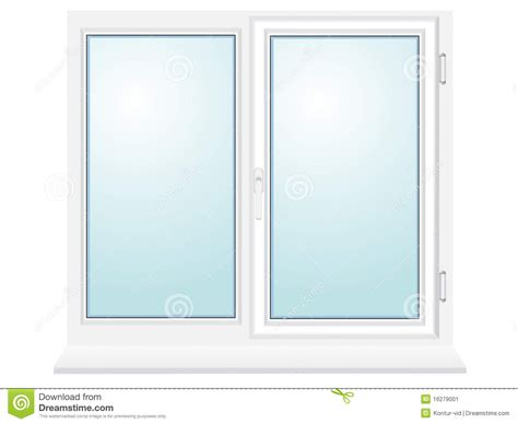 Kitchen Design 3d by Closed Plastic Glass Window Illustration Stock Image