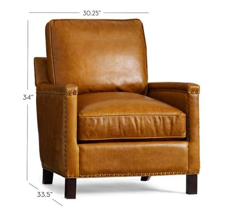 pottery barn armchair tyler leather armchair pottery barn