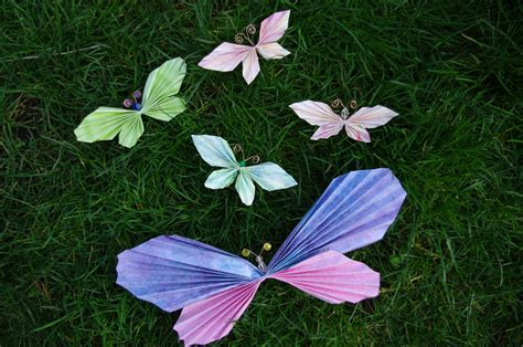 Folded Paper Butterflies - passengers on a spaceship paper butterflies for