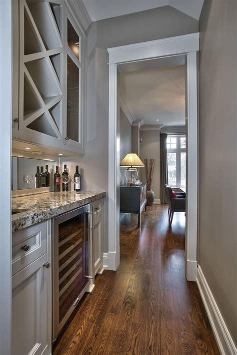 butlers pantry  granite counters wine fridge sink