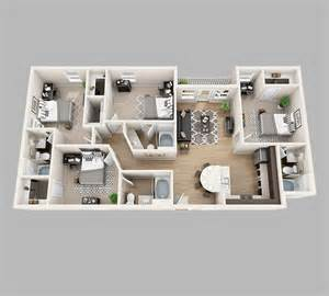 4 Bedroom House Interior Design Floor Plans Lux13 Apartments