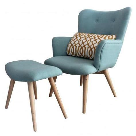 fauteuil repose pieds fauteuil avec repose pieds stockholm achat vente fauteuil bleu cdiscount