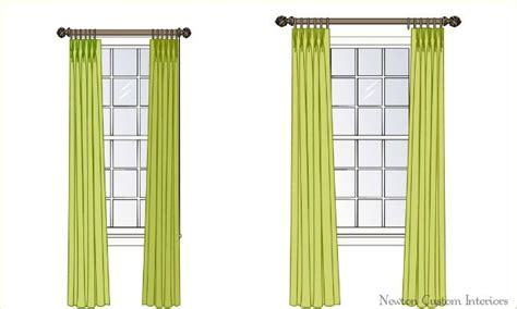 properly hanging curtains proper way to hang draperies home sweet home pinterest