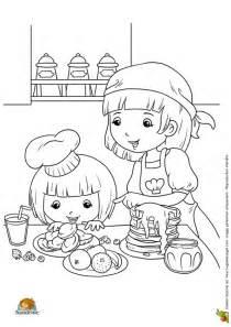 Coloriage repas famille i sur Hugolescargot.com