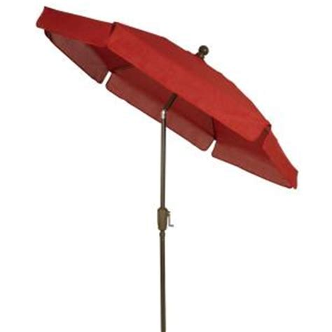 Fiberbuilt Umbrellas 7 5 Ft Patio Umbrella In Red 7gcrcb Home Depot Patio Umbrellas