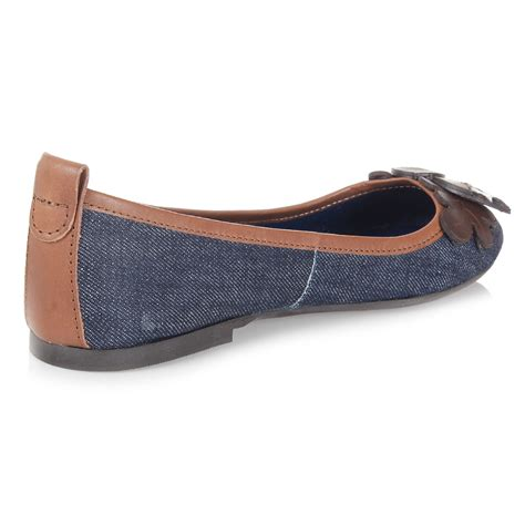 denim flats shoes dsquared2 denim and leather flat shoe spence outlet