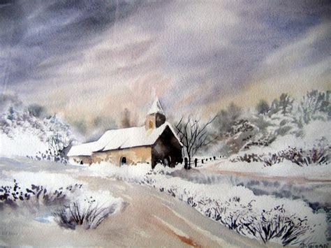 Peinture Blanc Neige by Tableau Peinture Aquarelle Neige Blanc Chapelle