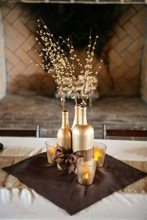 8 diy ideas wine bottles wedding centerpiece