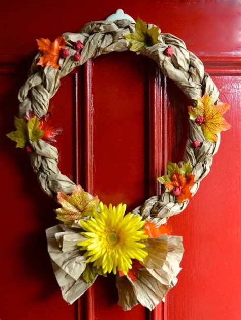 crafts made from recycled materials for easy recycled crafts fall wreaths inner child
