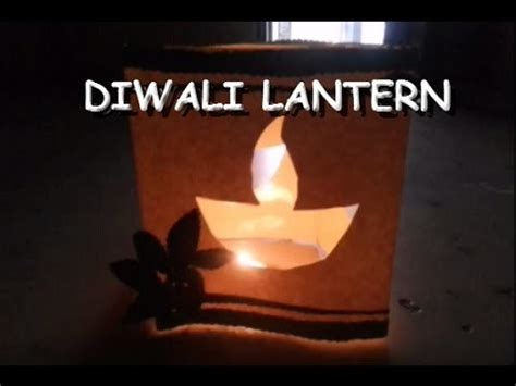 make beautiful diwali diya lantern at home my crafts and