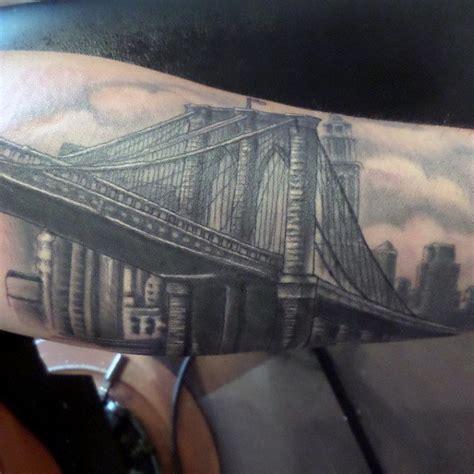 brooklyn bridge tattoo 50 bridge design ideas for architectural ink