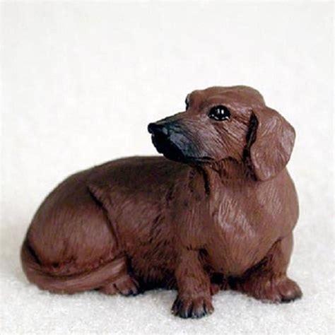 puppy figurines dachshund mini resin figurine statue painted